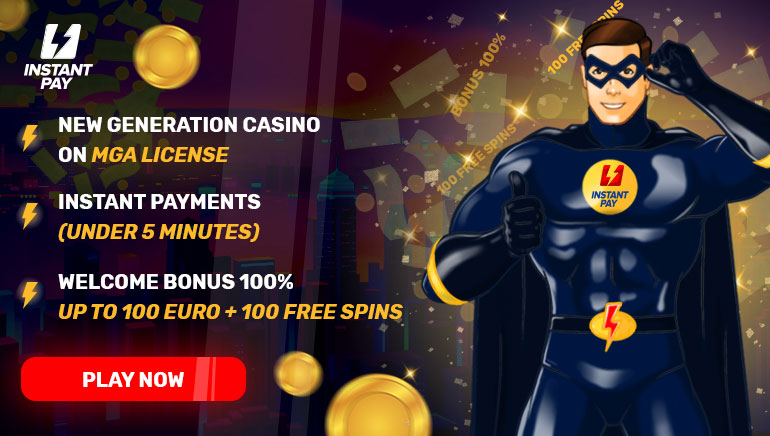Welcome bonus 100% up to 100€ + 100 free spins