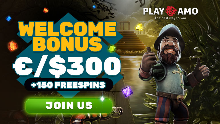 Welcome bonus of €/$300 + 150 free spins